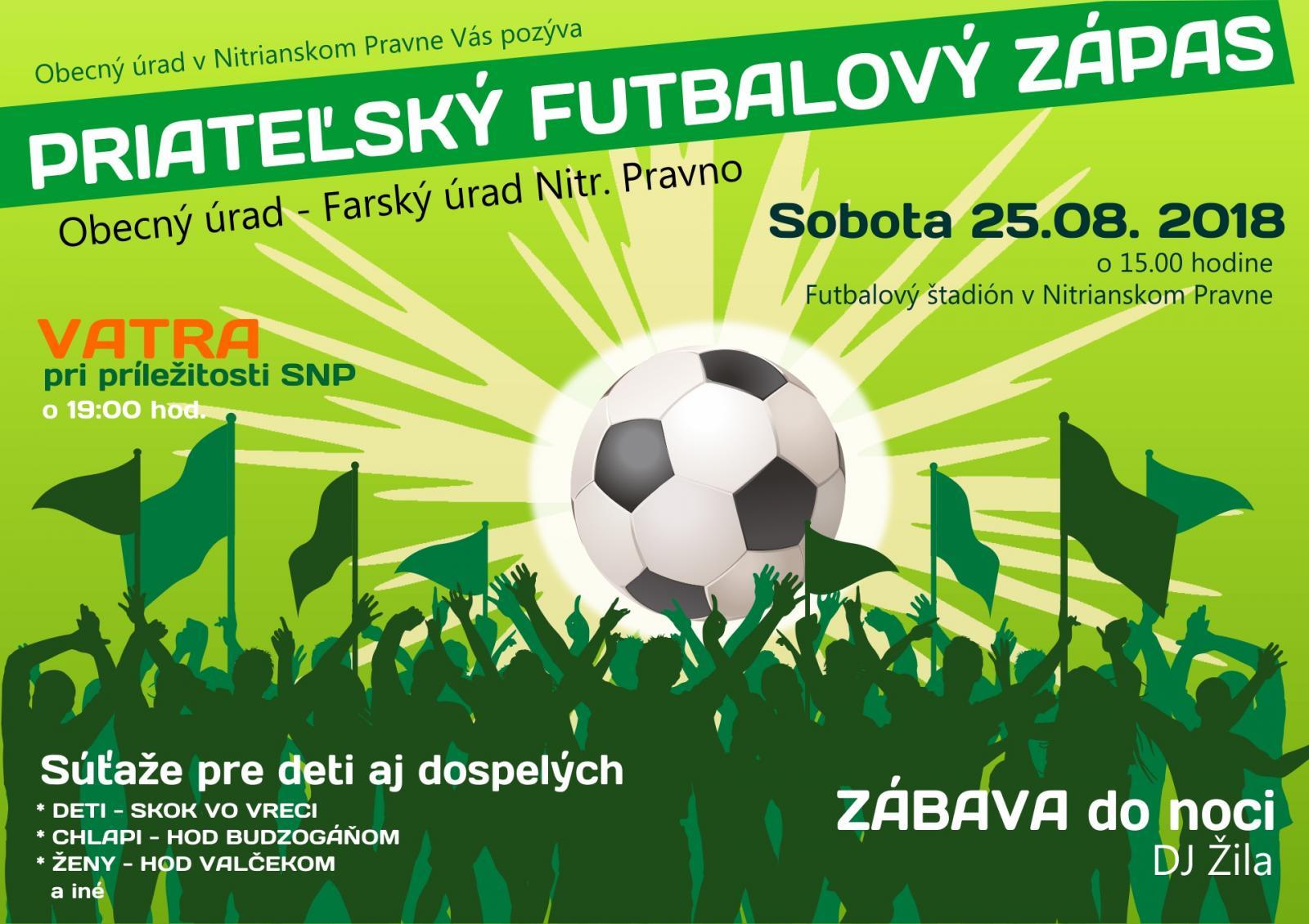 a574bf725 Pozvánka :: Vatra a Priateľský futbalový zápas Farský úrad a Obecný úrad